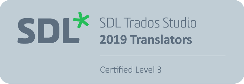 SDL Trados Studio 2019 for Translators Certification